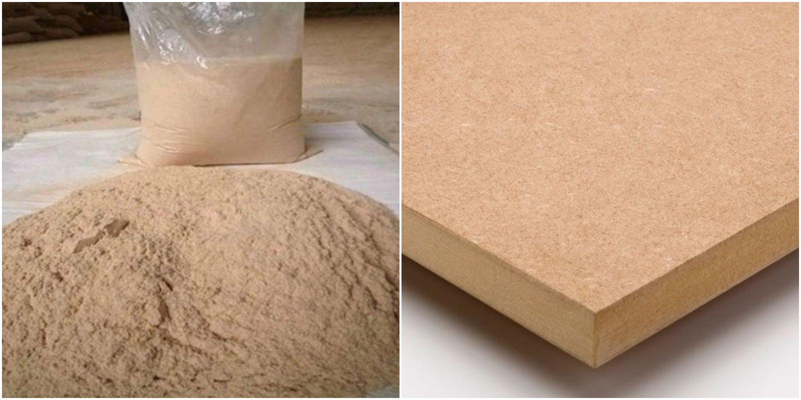 nguyên liệu ván gỗ HDF