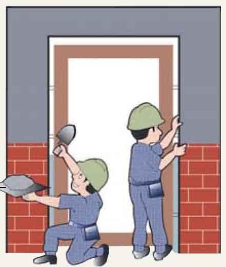 hướng dẫn lắp đặt cửa theo phương án chèn hồ