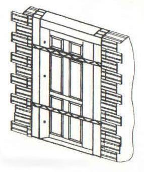 xây ô tường để cố định cửa