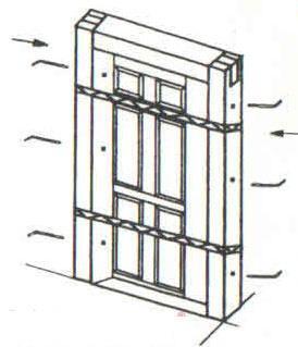 bắt ốc vít vào khung bao cửa