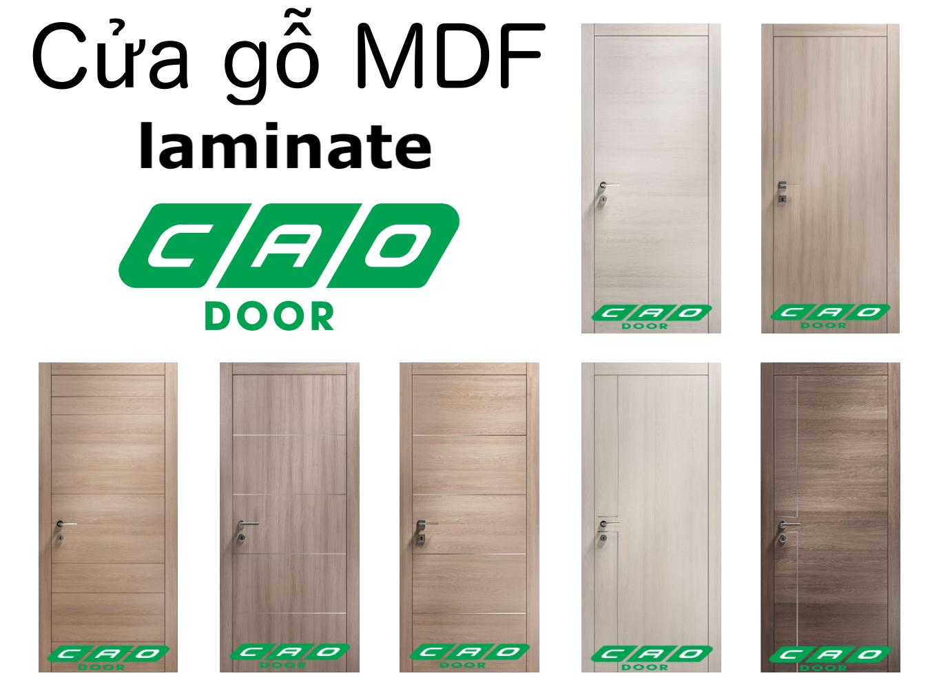 mẫu cửa gỗ công nghiệp MDF laminate