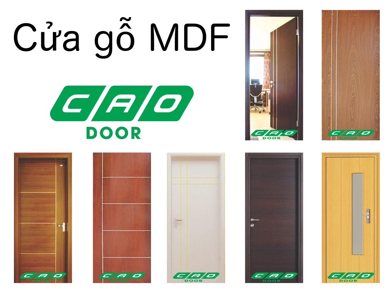 mẫu cửa gỗ công nghiệp MDF veneer