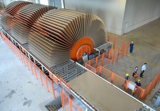 nhà máy sản xuất ván gỗ công nghiệp HDF